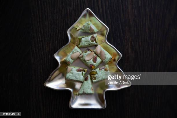 christmas nougat - nougat stock pictures, royalty-free photos & images