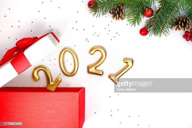 christmas of new year 2021 concept. - 2021 stock pictures, royalty-free photos & images