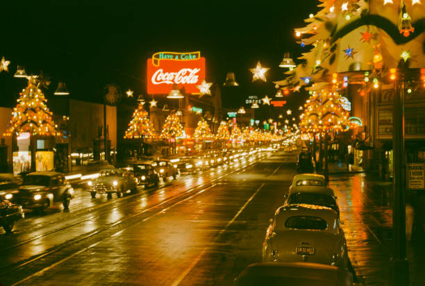 Christmas on Hollywood Boulevard in Hollywood, Los...