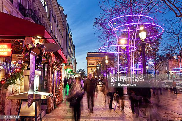 Christmas on the Champs-Elysees, Paris