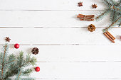 christmas new year background fir branches