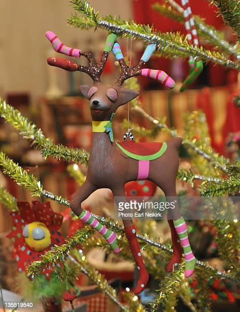 christmas ornament at mistletoe market - neikirk stock pictures, royalty-free photos & images