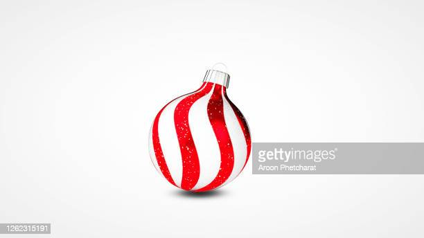 3d christmas ornament, christmas ball new year's eve decoration. - christmas bauble stock pictures, royalty-free photos & images