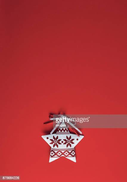 Christmas ornament on colored background