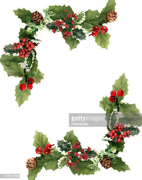 christmas ornament - holly stock pictures, royalty-free photos & images