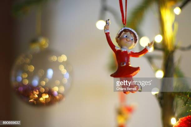 christmas ornament - pixie stock photos and pictures