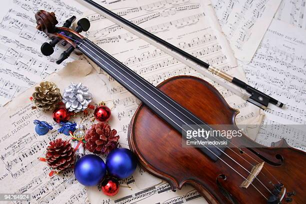 Christmas  ornament with violin