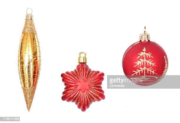 Weihnachten Ornamente auf Weiß