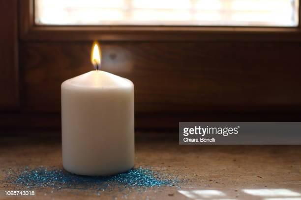 christmas ornaments - candela foto e immagini stock