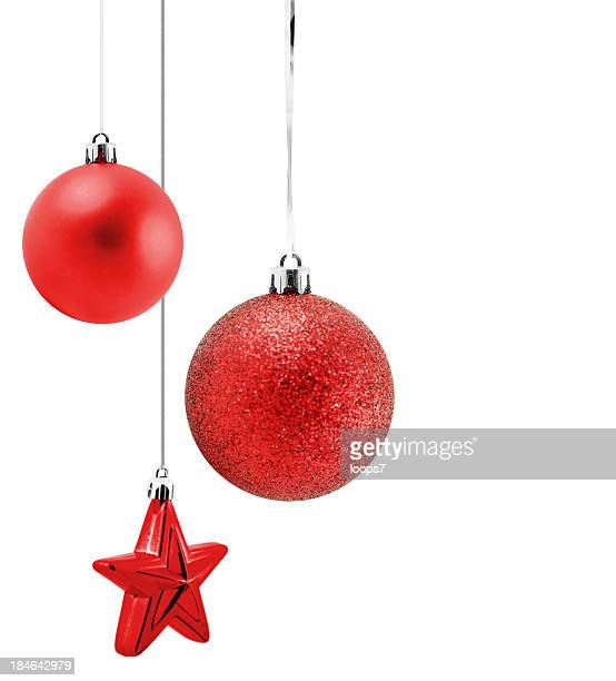 christmas ornaments - stars and strings stock photos and pictures