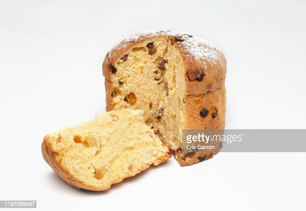 christmas panettone - panettone stock pictures, royalty-free photos & images