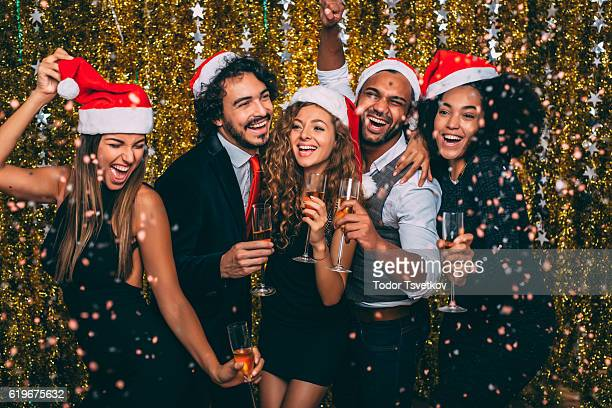 christmas party - work party stock pictures, royalty-free photos & images