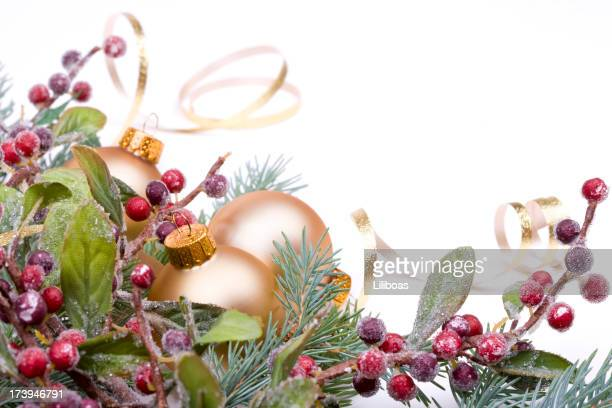 Christmas Pine and Baubles (XXL)