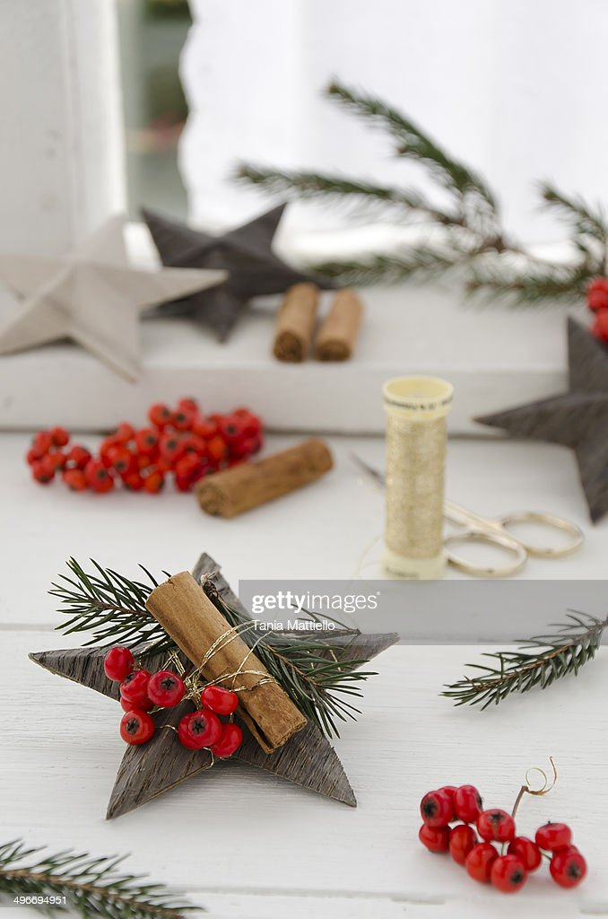 Christmas Place Card Holders Stock Photo