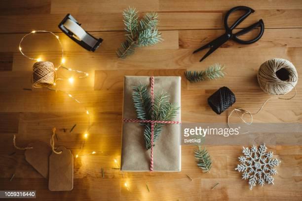 preparação do natal - cartão de presente - fotografias e filmes do acervo