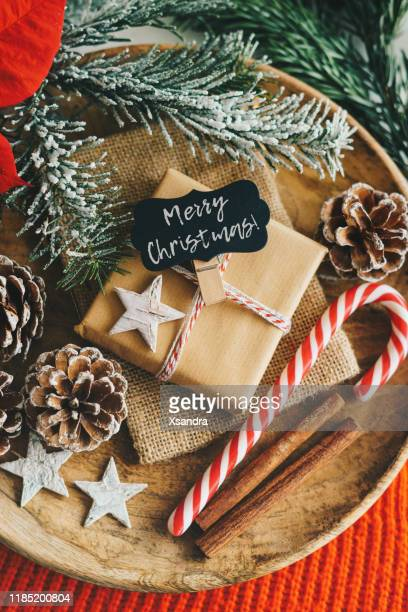 christmas present - candy cane stock pictures, royalty-free photos & images