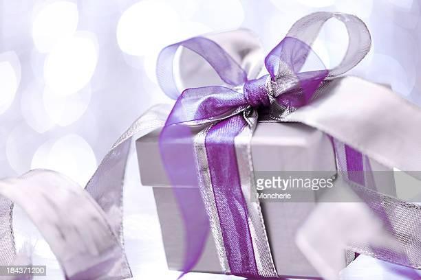Christmas present with illuminated background