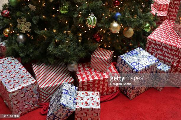Christmas Presents lying under the holiday tree