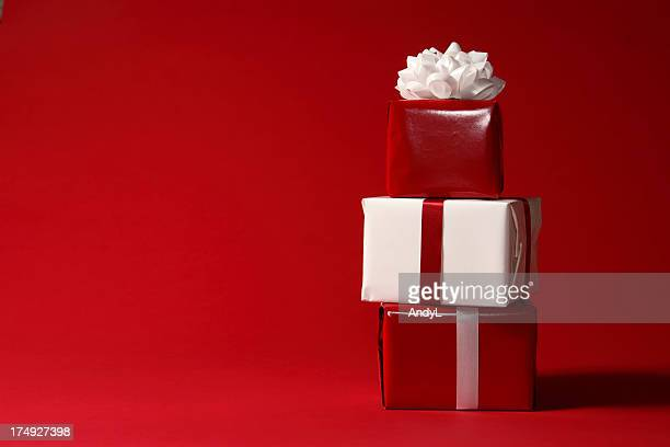 Christmas Presents on Red