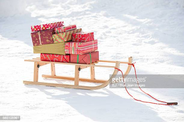 Christmas Presents on the sled