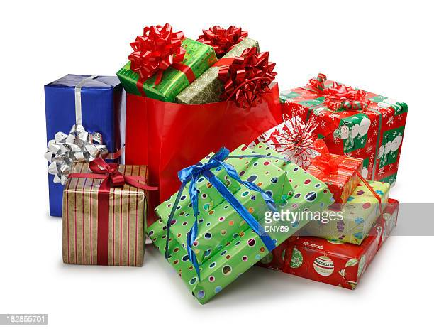 christmas presents - christmas gifts stock photos and pictures