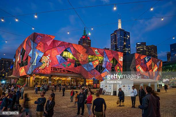 Christmas projections at Federation Square, Melbourne