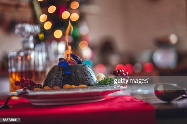 Christmas Pudding Dessert for Traditional Holiday Dinner