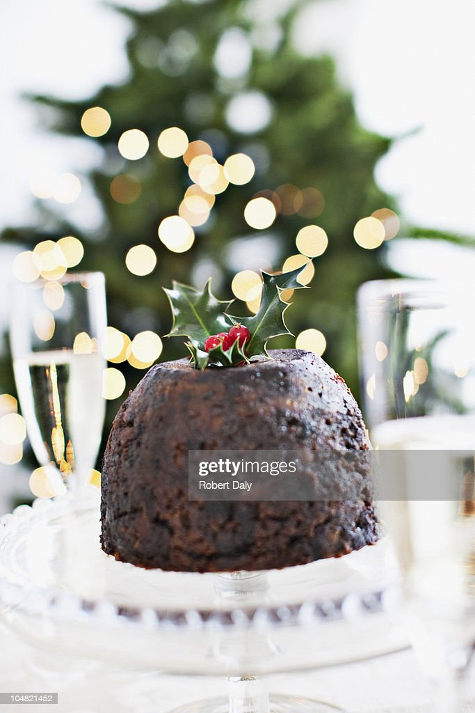Christmas pudding : Stock Photo