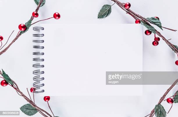 christmas rectangular frame decoration on white background - heart month stock photos and pictures