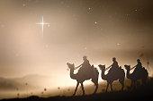 Christmas religious nativity concept