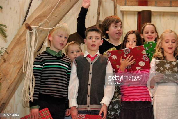 christmas representaion - acting performance stock pictures, royalty-free photos & images