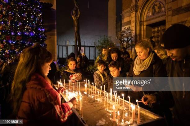 Christmas ritual was held in Saint Antuan Church in Beyoglu district of Istanbul Turkey on December 24 2019