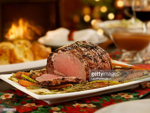 クリスマスローストビーフを使ったディナー