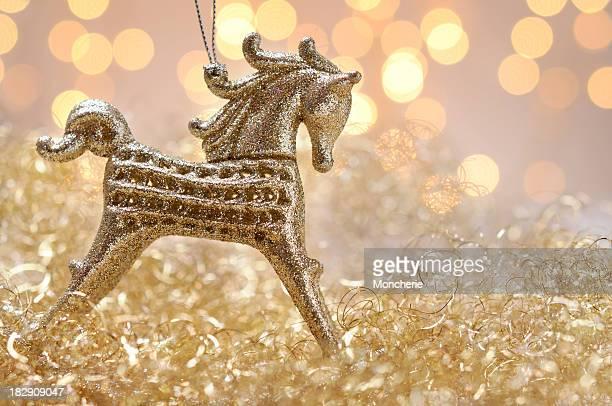 Décorations de Noël Cheval à bascule