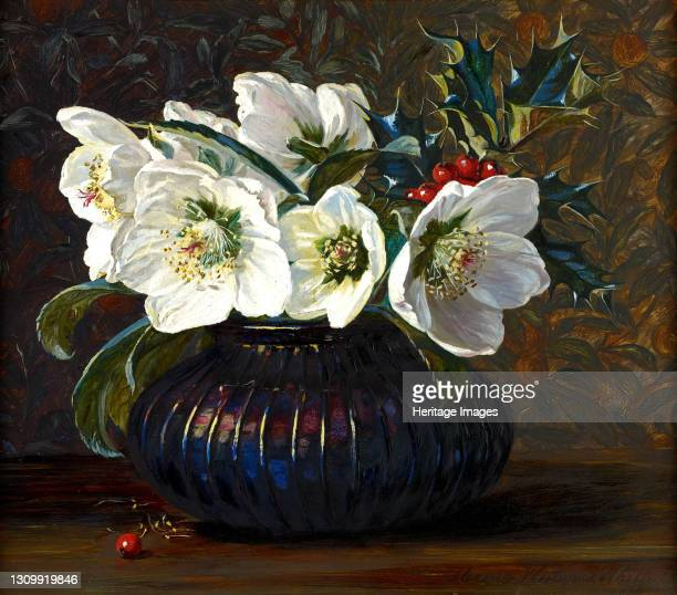 Christmas Roses, 1880. Artist Florence Westwood Whitfield. .
