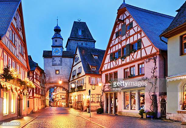 christmas rothenburg ob der tauber, bavaria, germany - town stock pictures, royalty-free photos & images