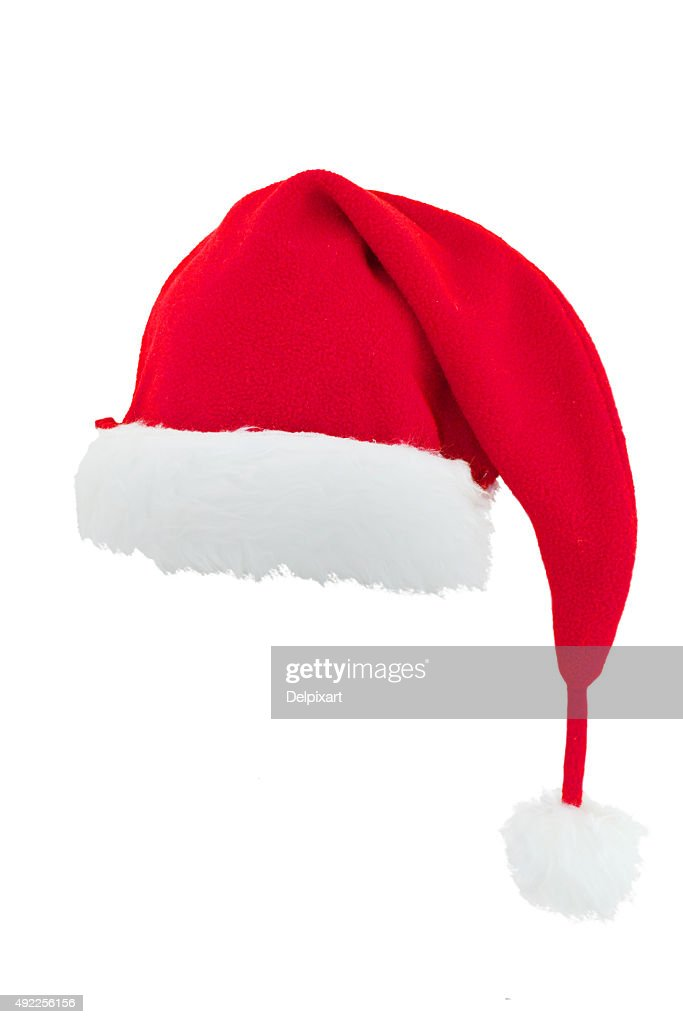 Christmas Santa Claus Hat Isolated On White Background Stock Photo ... f078f8b6add3