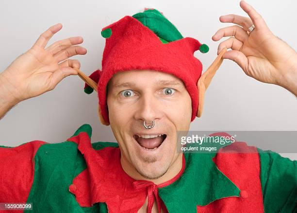 Navidad Santa Elf extracción de oídos