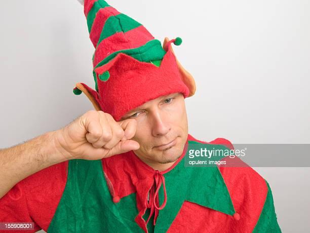 Christmas Santa Elf traurig