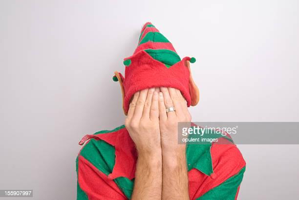Navidad Santa Elf sometida a tensión