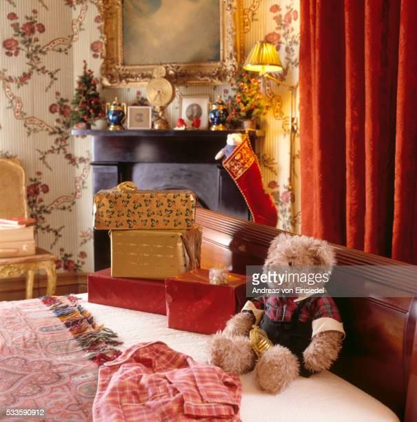 A Christmas scene at Waddesdon Manor, Buckinghamshire