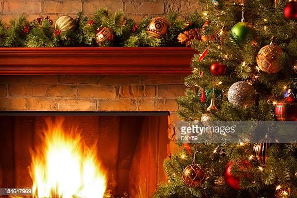 cena de natal - consolo de lareira - fotografias e filmes do acervo