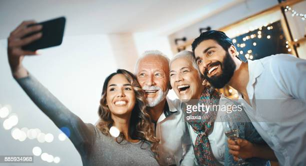 christmas selfie. - celebration photos stock pictures, royalty-free photos & images
