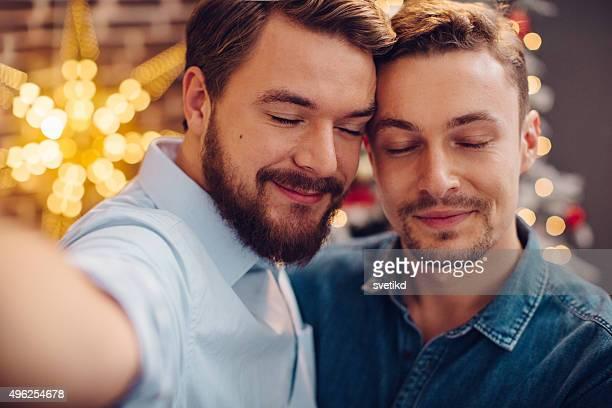 Weihnachten selfie mit liebevoll person.