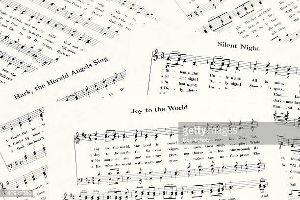 christmas sheet music - christmas music stock pictures, royalty-free photos & images