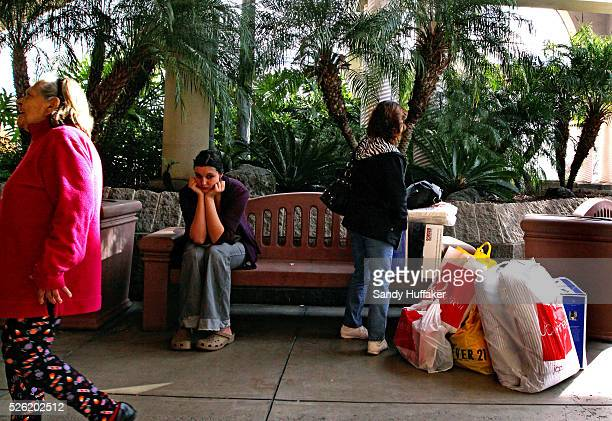 Christmas shoppers during Black Friday at the North County Faire Mall in Escondido California | Location Esondido California USA