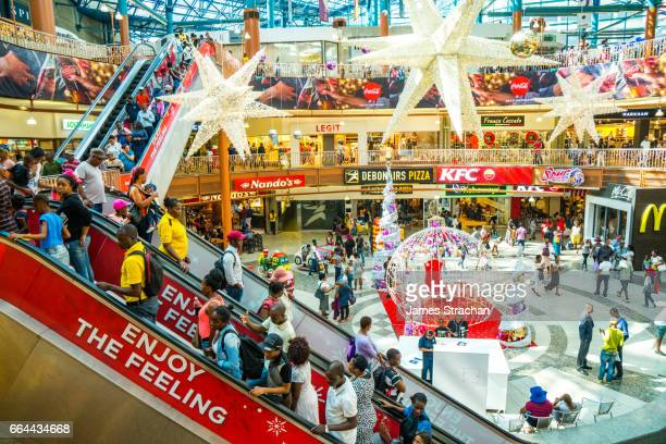 Christmas shopping at the Carlton Centre shopping mall is not mixed race, downtown Johannesburg, South Africa