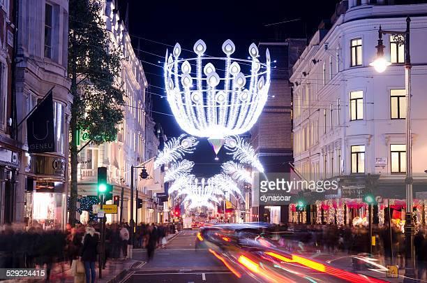 Christmas shopping, Bond Street, central London