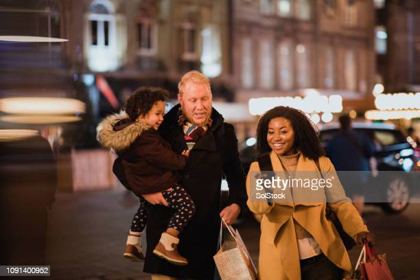 christmas shopping complete - newcastle upon tyne stock pictures, royalty-free photos & images