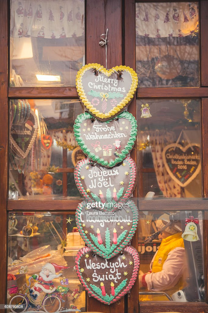 Christmas Shopping German Lebkuchen Cookies For Sale In A Christmas